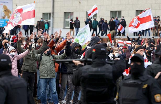 ВМинске милиция стреляла ввоздух вовремя акции протеста